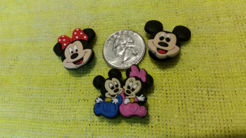 FAST USA SHIPPING!! Set of 3 ! MICKEY /& MINNIE MOUSE shoe charms//cake toppers!