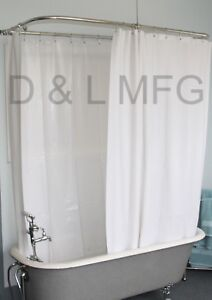 Details About Heavy Clawfoot Vinyl Shower Curtain Extra Wide White Without Magnets 180 X 70