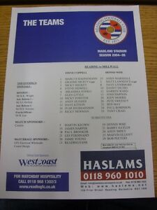 05-04-2005-Colour-Teamsheet-Reading-v-Millwall-Thanks-for-viewing-our-item-if