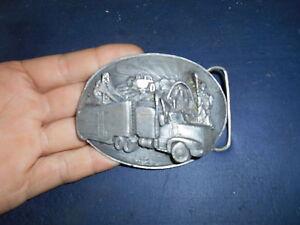81902526822 Ancienne Boucle Ceinture Siskiyou Vintage Belt Buckle Trucker Camion ...