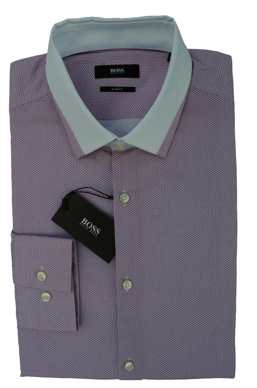 40 hugo boss Med-Pink camisa jerrell Med-Pink boss slim fit negro Label  50331459 a322e9 7a18dc63323d6