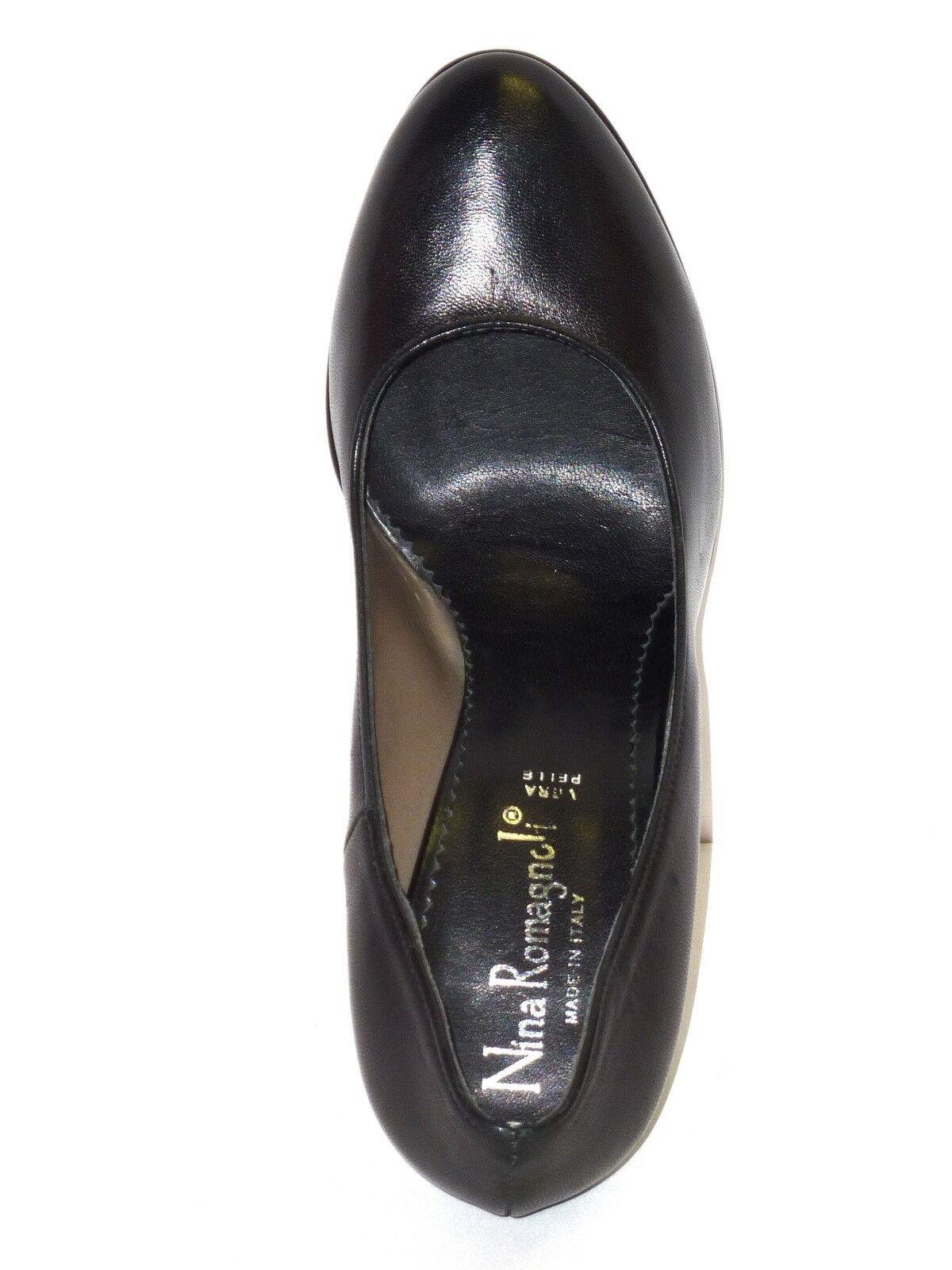 Schuhe Damens PELLE NAPPA DECOLLETE NERO DECOLLETE NAPPA PLATEAU E TACCO ALTO Molinoline n. 38 6070f2