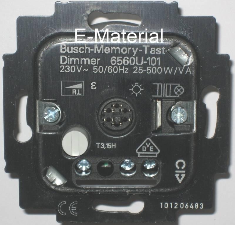 Dimmer Busch Jaeger 6560 U-101 Memory-Tastdimmer