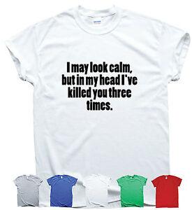 MI-puo-sembrare-Calma-Divertente-Dicendo-T-Shirt-Uomo-Donna-preventivo-sarcasmo-Donna-Slogan