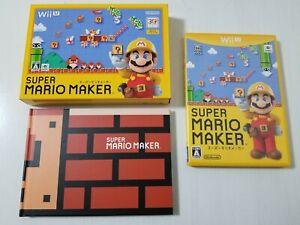 Nintendo Wii U Super Mario Maker + Art Book CIB Japan 0420A9
