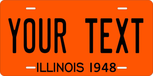 Illinois 1948 License Plate Personalized Custom Car Auto Bike Motorcycle Moped