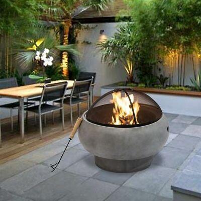 Peaktop Garten Terrasse Feuerstelle Fur Brennholz Fur Den Aussenbereich 53 Cm Ebay
