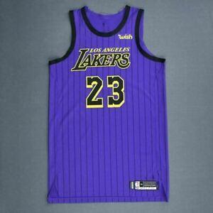 Détails sur Basketball Maillot Jersey LA Lakers Lebron James #23 City Edition Pourpre S 2XL