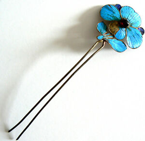 Qing-Dynasty-Kingfisher-Feather-Hair-Pin-Antique-VINTAGE-Tian-tsui-Ca-1850
