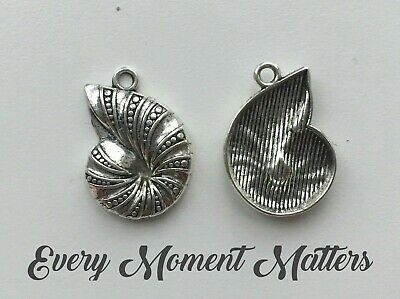 Silver 925 Seashell Clip On Charm For Charms Bracelet A24C
