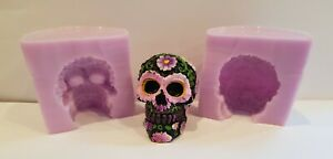 SMALL-5cm-FLORAL-SKULL-SILICONE-MOULD-FOR-CAKE-TOPPERS-CHOCOLATE-CLAY-ETC