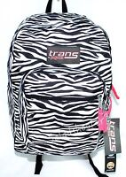 Jansport Trans School Student Backpack Black And White Zebra With Tags