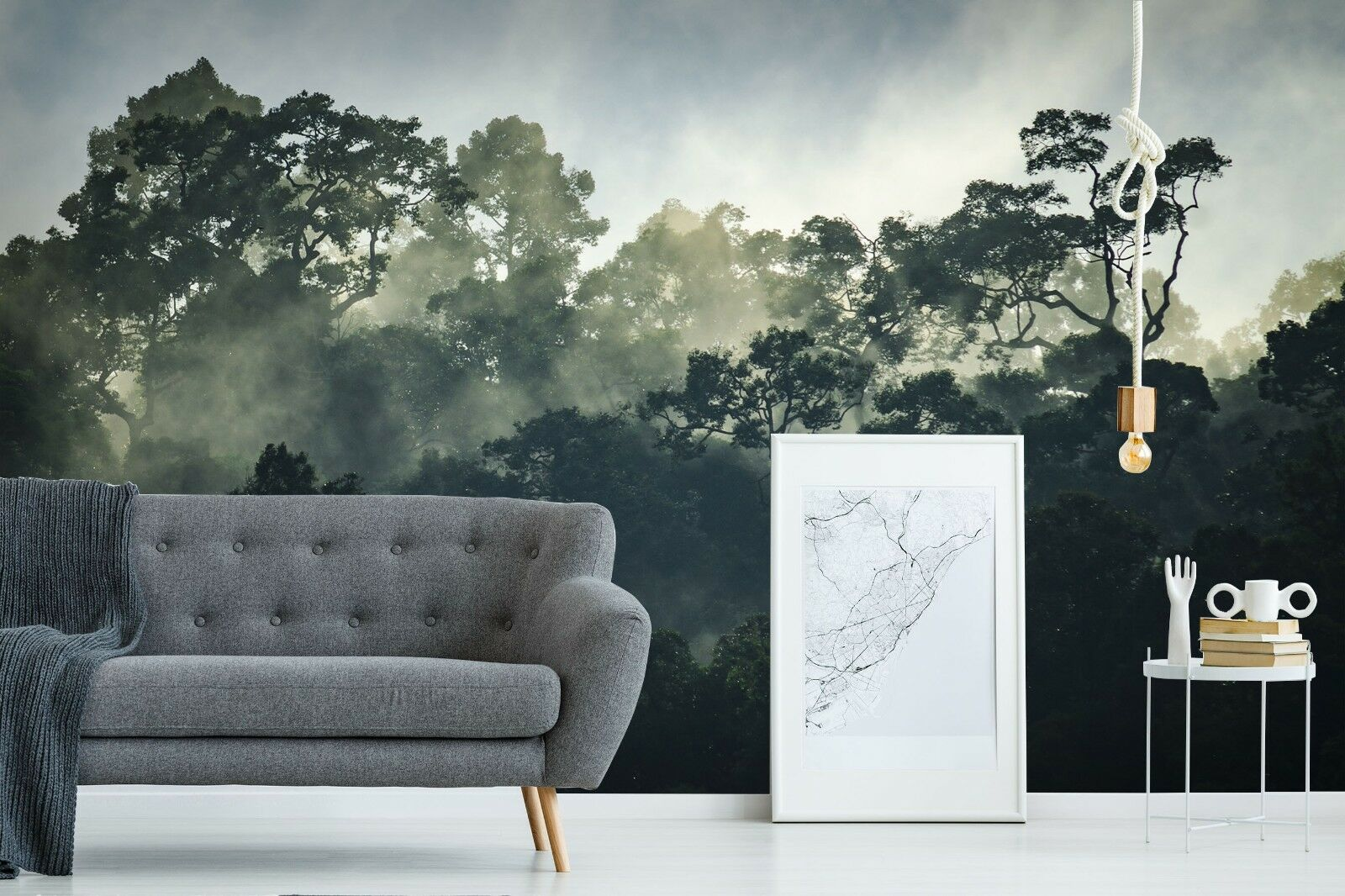 3D Grün Tree 7024 Wall Paper Print Wall Decal Deco Indoor Wall Murals US Summer