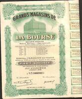 Deco => Grands Magasins De La Bourse (belgique) (k)