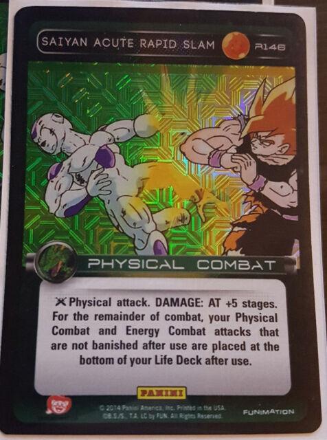 Foil Dragon Ball Z 2014 DBZ Panini NM 1x Saiyan Acute Rapid Slam R146