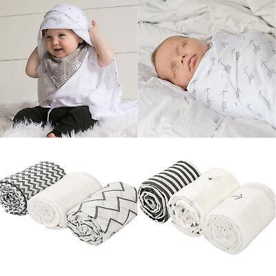 "UK stock 2 Large 100/% Organic Cotton Muslin Blankets Swaddle Large 47/"" x47/"" Baby"