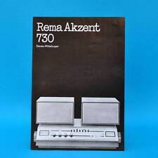 Rema Akzent 730 Mittelsuper DDR 1973 | Prospekt Werbung DEWAG Werbeblatt D