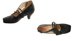 Lisa-Tucci-Damen-schuhe-Pumps-Texel-schwarz-nero-Verde-Leder-Schuhe-Sandalen