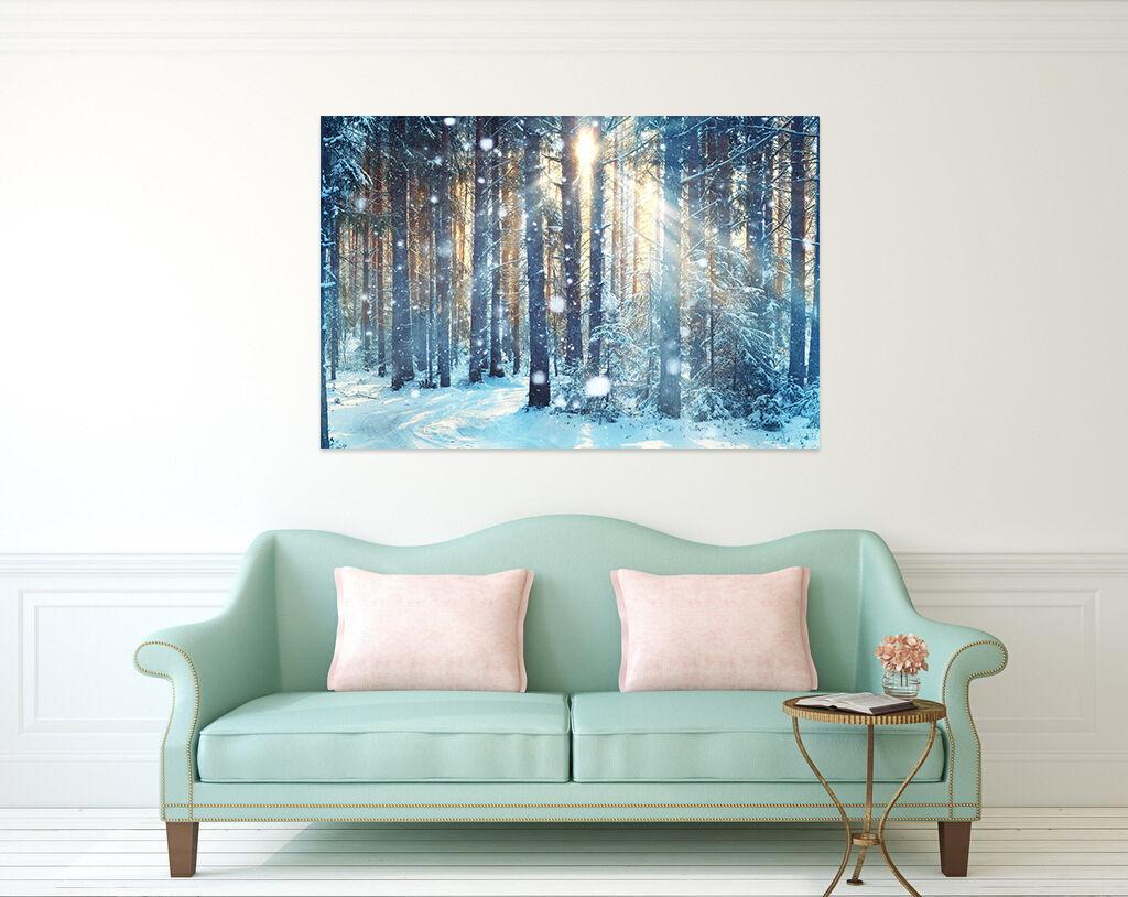 3D Helle Schnee, Wald 377 Fototapeten Wandbild BildTapete Familie AJSTORE DE