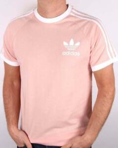 Détails sur Adidas Originaux Rétro Californie Col Rond Manches Courtes Homme T Shirt Rose