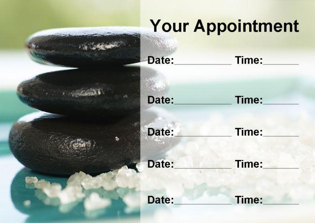Beauty Spa Massage Salon trattamento personalizzato nomina CARDS
