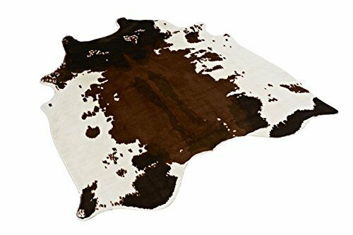 Cow Print Rug 4.1x4.2 Feet faux Cow hide rug Animal printed area rug carpet for