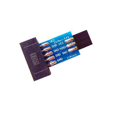 1Stk 10 Pin to Standard 6 Pin Adapter Board For ATMEL AVRISP USBASP STK500