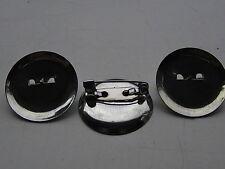 10 pernos de hierro de color platino Broche Redondas de cabujón de 24mm de espaldas, insignias (BOX78)