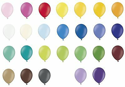 """100 plain Latex 10"""" Party Balloons Choose own colour mix from 27 colours"""