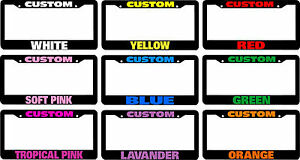 CUSTOM-PERSONALIZED-License-Plate-Frame-COLOR-CHOICE