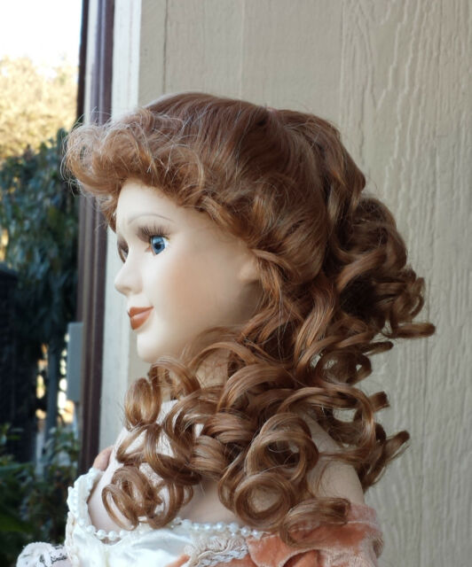 """Doll Wig - W490 Cascading Ringlets size 12""""(head): CHOICE of color."""