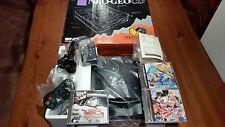NEOGEO CD CONSOLE SNK TOP LOADING + BOX NEO GEO + 3 GAMES