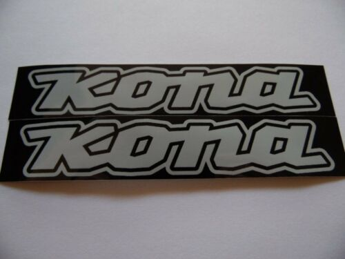 "KONA 6/""x 1.5 5/"" x1 Vinyl decal weather proof 2 bike stickers many colors"