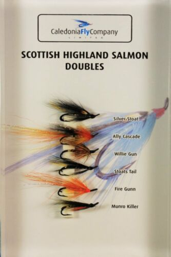 Salmon Doubles Selection Pack of 6 Flies Trout Salmon Fishing Flies
