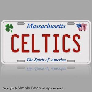 Massachusetts Boston Celtics Aluminum Vanity License Plate Tag Metal New Ebay