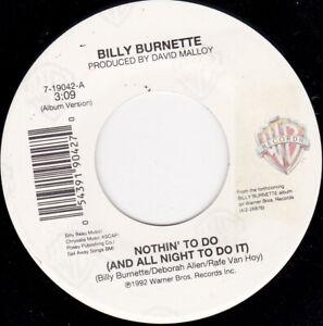 "BILLY BURNETTE - Nothin' To Do 7"" 45"
