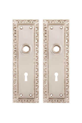 Egg and Dart Back Plates For Doorknobs