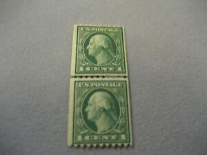 US-Stamp-Scott-448-1c-Pair-MH-OG
