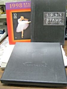 Lot-of-3-USPS-Commemorative-Stamp-Collection-YEARBOOKS-1995-1996-1998-BOXED-SETS