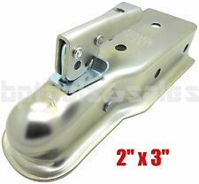 "2"" x 3'' Chrome Ball Hitch Back Trailer Coupler Tongue 3"" Class II 3,500 lbs NEW"