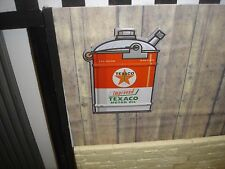SIGN -TEXACO MOTOR OIL - 5GAL CAN -  Metal Construction - 1/18 Scale Diorama
