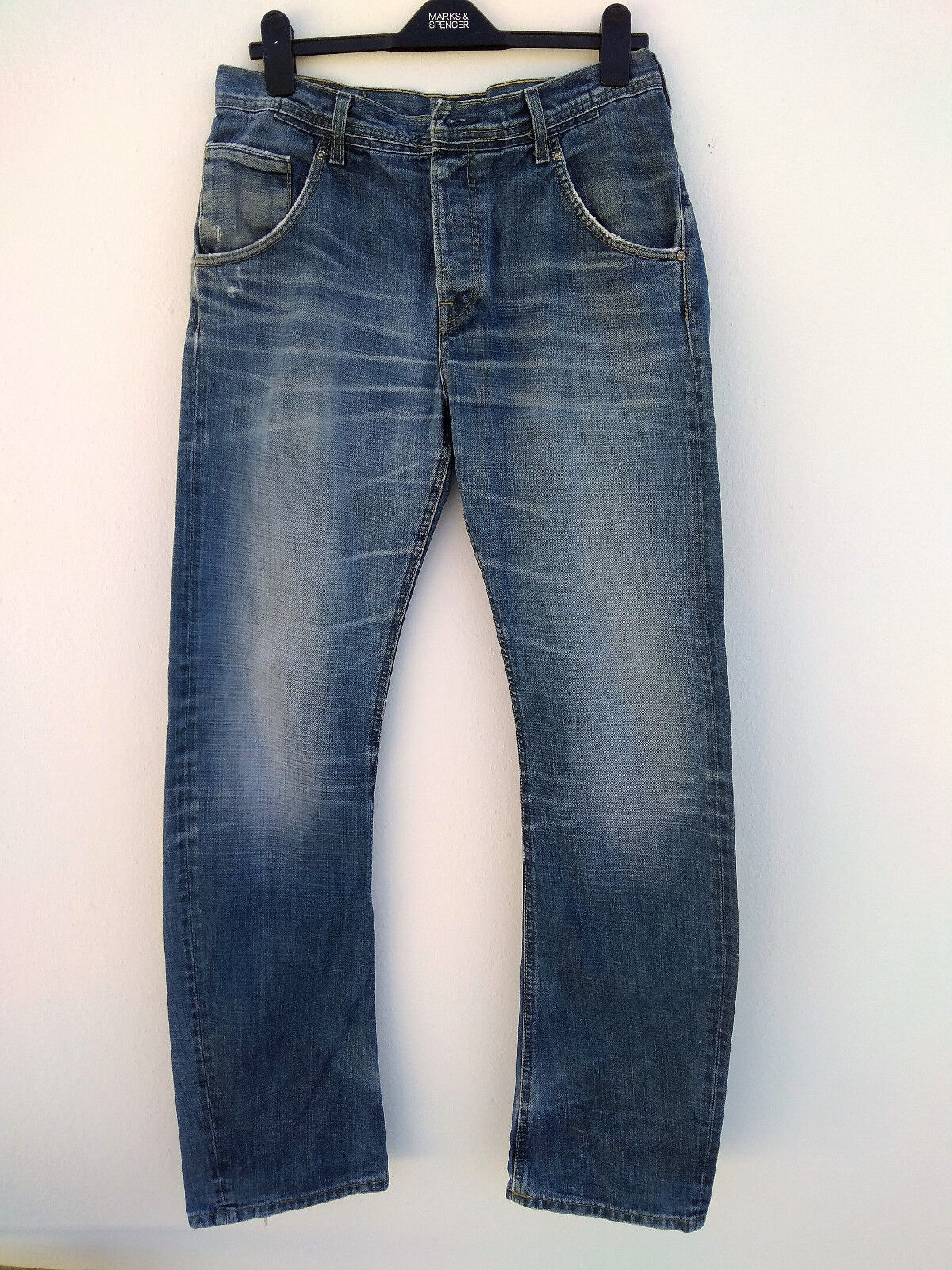 Vintage Awesome Mens Lee Jeans Storm Clark Rider Cowboy Button Fly 33X34