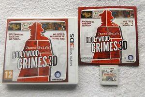 JAMES-NOIR-039-S-HOLLYWOOD-CRIMES-3D-NINTENDO-3DS-V-G-C-FAST-POST-puzzle-game