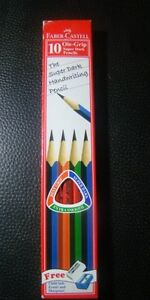 faber-castell 20 super dark grip pencils set cardboard box