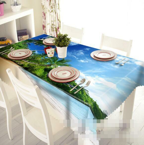 3D Trees Sky 5 Tablecloth Table Cover Cloth Birthday Party Event AJ WALLPAPER AU