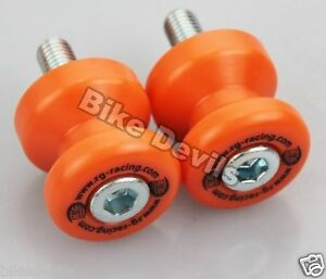 Honda-CBR1000RR-Fireblade-2004-2016-R-amp-G-racing-orange-cotton-reels-bobbins