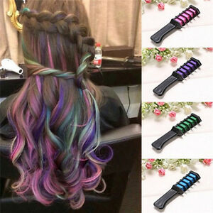 Temporary-Dye-Colour-Hair-Chalk-Soft-Pastel-Cream-Comb-Salon-Hair-Brush