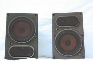 B-amp-W-LM1-BOWERS-AND-WILKINS-CAST-ALUMINIUM-STEREO-SPEAKERS-PAIR