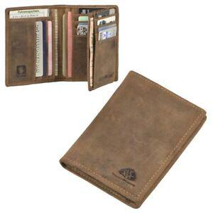 Greenburry-Leder-Ausweismappe-Kartenetui-Vintage-braun