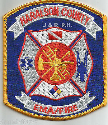 """3.75/"""" x 4.25/"""" size fire patch Georgia Haralson County"""